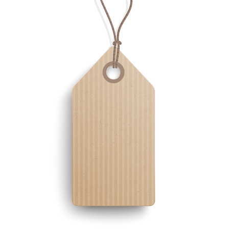 price sticker: Cardboard hanging price sticker on the white background. vector file. Illustration