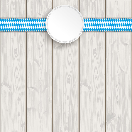 national colors: Bavarian national colors ribbon on the wooden background. vector file.