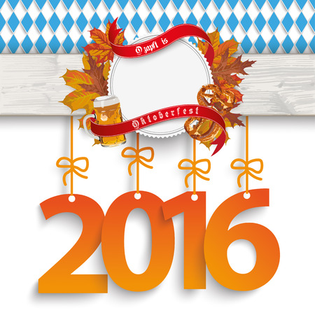 bretzel: German text O?zapft is and Oktoberfest, translate on tap and Oktoberfest. vector file. Illustration