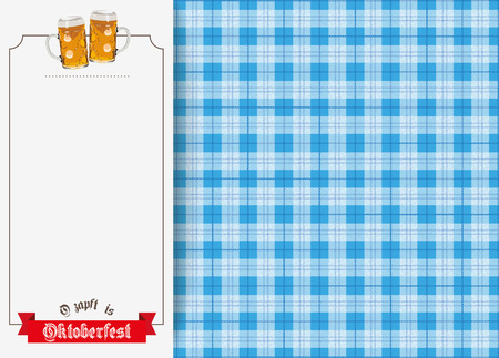 German text O zapft is and Oktoberfest, translate on tap and Oktoberfest. vector file. Illustration