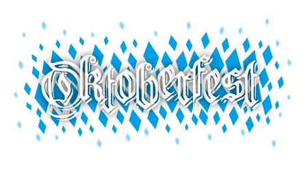 national colors: Bavarian national colors structure with text Oktoberfest. vector file.