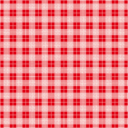 scot: Red checked blanket pattern. vector file.