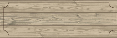 Wooden planks header with vintage frame. vector file.