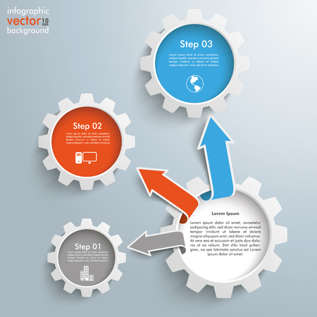 Infographic design on the gray background. vector file.