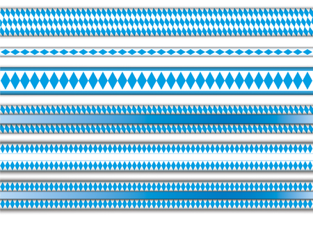 national colors: Set of ribbons with bavarian national colors. vector file.