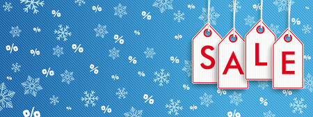winter sale: Header with price stickers for Winter Sale. vector file.