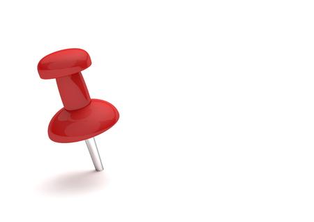 thumbtack: Red thumbtack on the white background. 3d illustration.