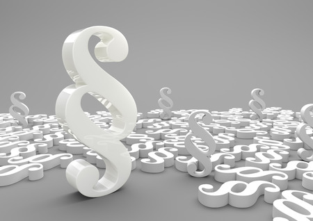 sway: Paragraphs on the gray background. 3d illustration. Stock Photo