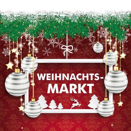 christmas market: German text Weihnachtsmarkt, translate Christmas Market. vector file.