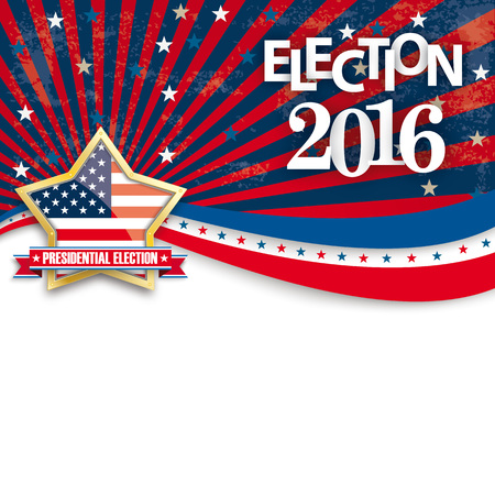 Presidential election retro flyer. vector file.
