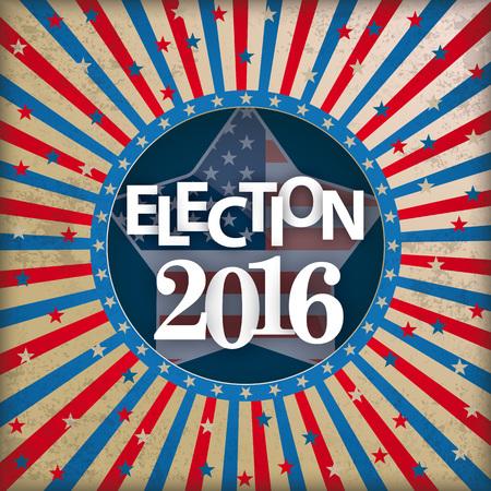 Vintage background design for Election 2016. vector file.