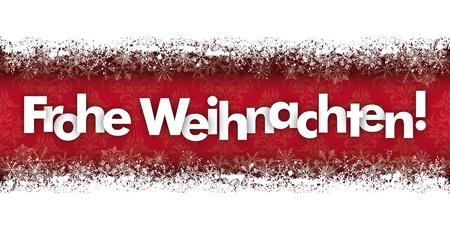 weihnachten: German text Frohe Weihnachten, translate Merry Christmas. vector file.