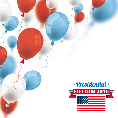Colored balloons for presidential election 2016. vector file.