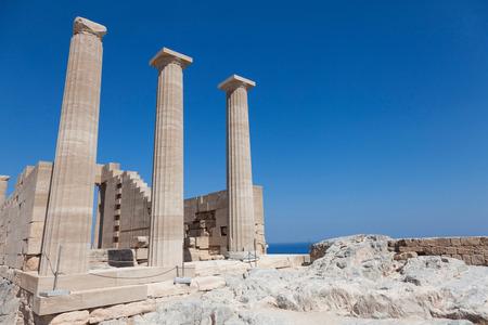 athena: Greece, Rhodes, Lindos - Acropolis Temple of Lindian Athena