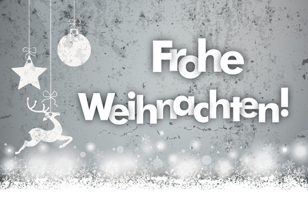 german text frohe weihnachten translate merry christmas eps 10 vector file stock vector