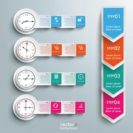 infografía calendario en el fondo gris. EPS 10 del vector.