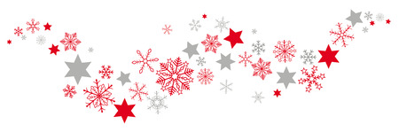 christmas gifts: Snow  an stars on the white background. Eps 10 vector file. Illustration