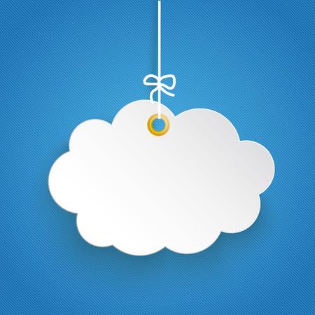 Paper cloud. Eps 10 vector file.  イラスト・ベクター素材
