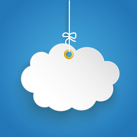 Paper cloud. Eps 10 vector file. Ilustracja