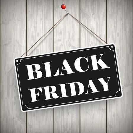onlineshop: Sign with text Black Friday on the wooden background