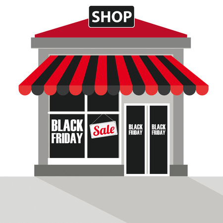 sale shop: Shop with text Black Friday Sale.