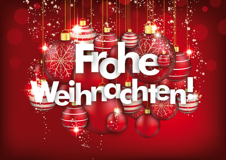 german text frohe weihnachten translate merry christmas stock vector 68154798
