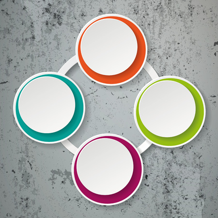 ciclo de vida: Colorful inforgraphic paper lifecycle on the concrete background.