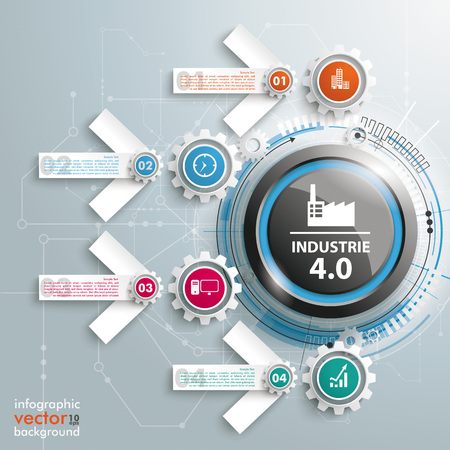 industrie: German text Industrie 4.0, translate Industry 4.0. Illustration