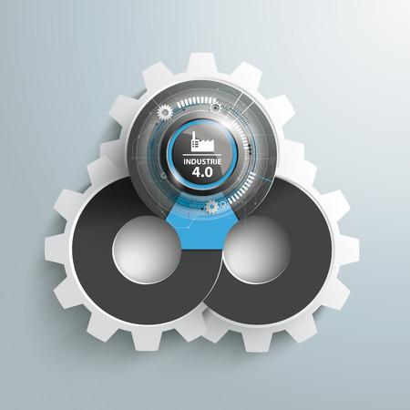 German text Industrie 4.0, translate Industry 4.0. Eps 10 vector file. Stock Illustratie
