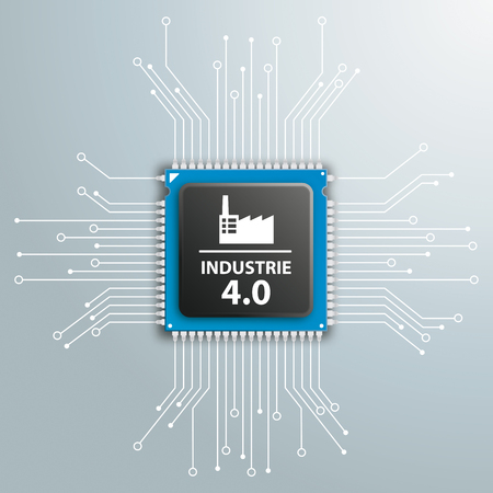 industrie: German text Industrie 4.0, translate 4th Industrial Revolution. Eps 10 vector file.