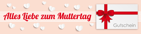 chit: German text Alles Liebe zum Muttertag, translate Happy Mothers Day. Eps 10 vector file. Illustration