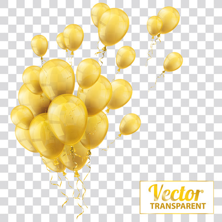 checked: Golden and transparent balloons on the checked background. Eps 10 vector file.