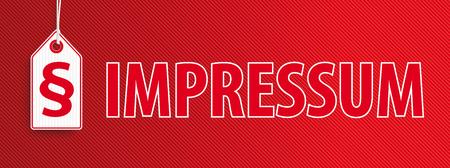 German text Impressum, translate Imprint. Eps 10 vector file. Фото со стока - 77250321