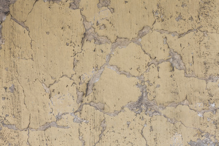 frontage: Old wall paint pattern on the concrete wall.  Stock Photo