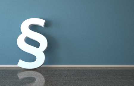 White paragraph in the room. 3d illustration.  Stock Photo
