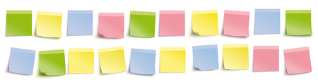 Colored stickers on the white background. Eps 10 vector file. Illustration