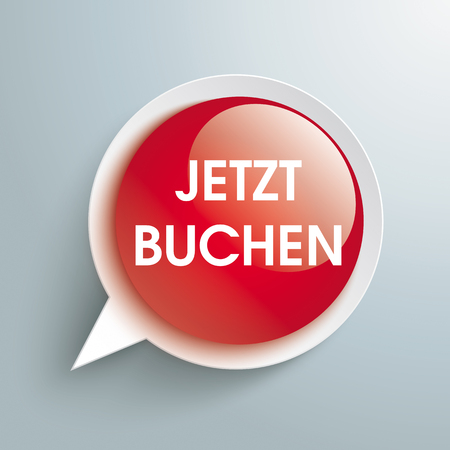 finding: German text Jetzt Buchen, translate Book Now. Eps 10 vector file. Illustration