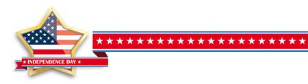 Witte onafhankelijkheidsdag achtergrond ontwerp met Amerikaanse gouden ster.