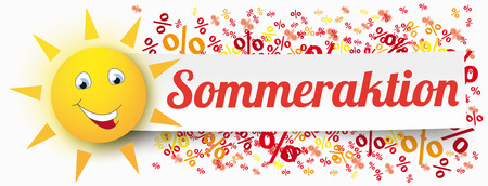 German text Sommeraktion, translate Summer Sale.
