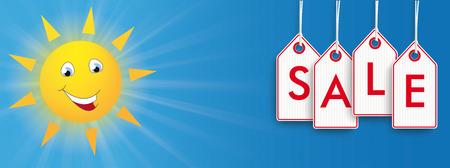 website header: Summer sale discount.