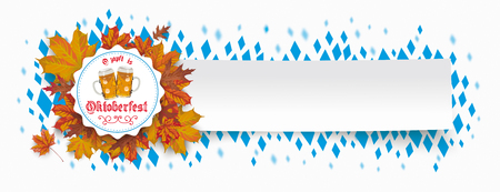 German text Ozapft is and Oktoberfest, translate on tap and Oktoberfest. Eps 10 vector file.