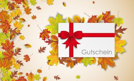 Texte allemand Gutschein, traduire Coupon. Eps 10 fichier vectoriel. Banque d'images - 88324394