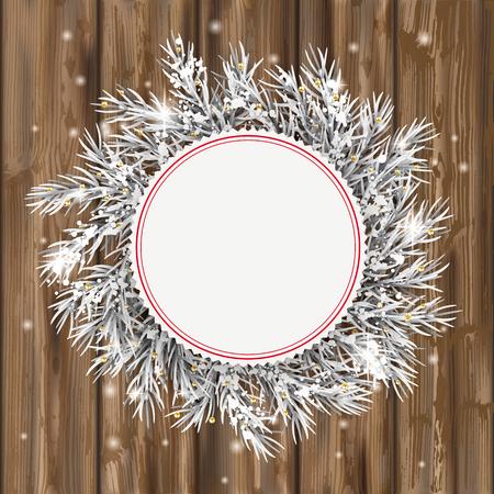 Emblem with frozen twigs.