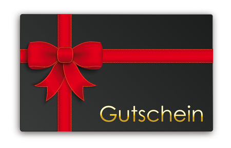 German text Gutschein, translate Coupon. Eps 10 vector file.