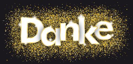Texte allemand Danke, traduisez Merci. Fichier vectoriel EPS 10 Banque d'images - 89966114