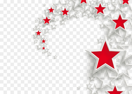 White and red stars on the checked background vector file.