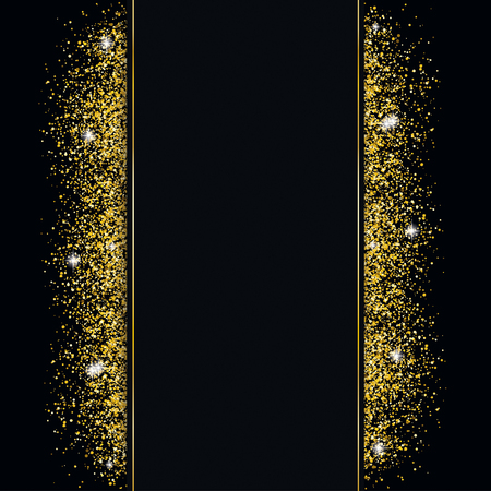 Black cover with black banner and golden sand.