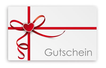 German text Gutschein, translate Coupon. Eps 10 vector file. Reklamní fotografie - 92928262