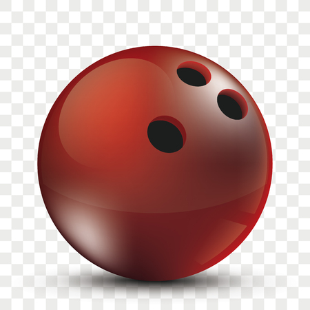 Bowling ball on the checked background. Eps 10 vector file.