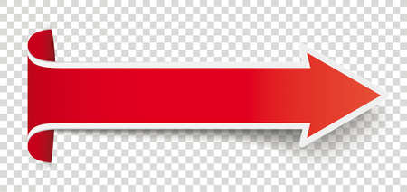 Long red arrow on the checked background vector file.